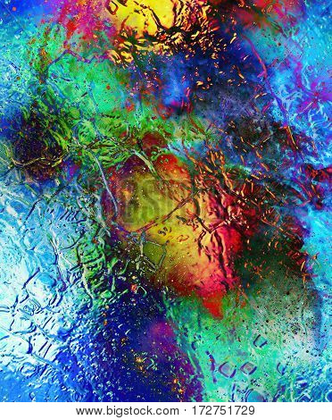Cosmic space and stars, cosmic abstract background and glass effect. Copy space