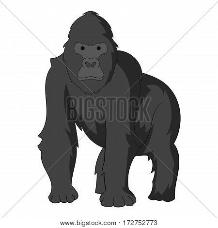 Gorilla icon. Cartoon illustration of gorilla vector icon for web