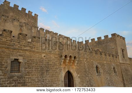 The Old castle of Partanna's town, Siciliy