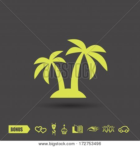 Pictograph of island. Vector concept illustration for design. Eps 10