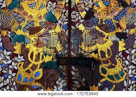 Thai Temple Painting Of Hanuman