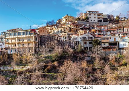 View of Agros village. Limassol District Cyprus.
