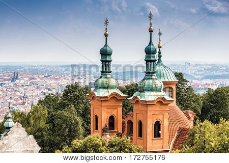 Cathedral of Saint Lawrence. Prague Czech Republic.