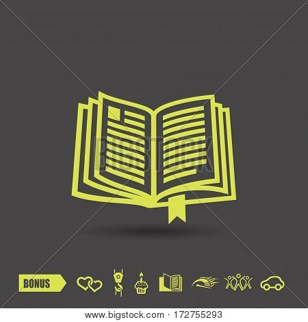 Pictograph of book. Vector concept illustration for design. Eps 10