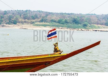 Fishing boat in the country of thailand