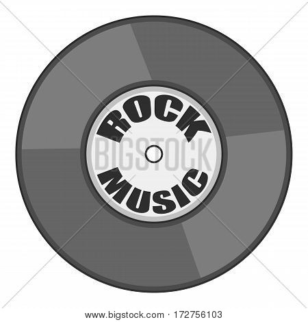 Rock music vinyl record icon. Cartoon illustration of rock music vinyl record vector icon for web