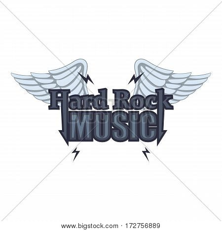 Hard rock music icon. Cartoon illustration of hard rock music vector icon for web