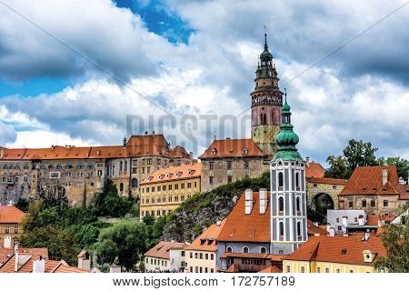 View of Cesky Krumlov town. Czech Republic.
