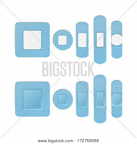 Medical Patch Vector. Bandage In Different Shape.