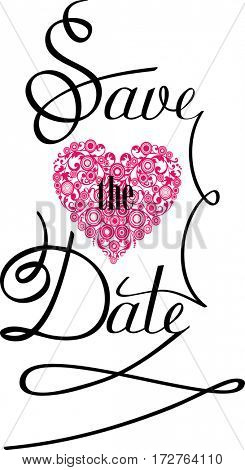 Save the Date Text Design.