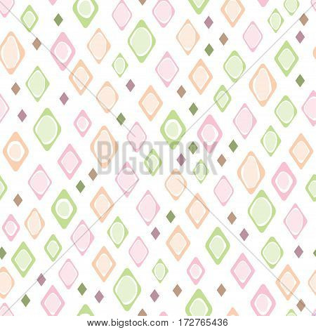 Seamless pattern with squares for wallpaper fabric print background - vector illustration