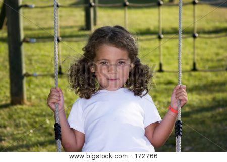 Happy On The Swing