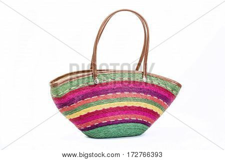 Mexican Cultural Bag On White Background
