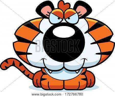 Cartoon Sly Tiger Cub