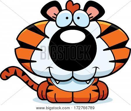Cartoon Happy Tiger Cub