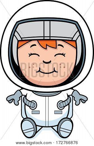 Boy Astronaut Sitting