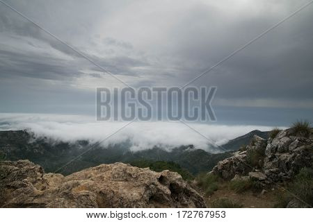 a photo taken of an approaching storm front in Marbella