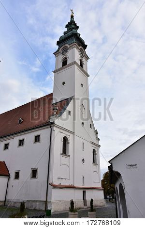Mosonmagyarovar church,town and spa in Hungary in Europe