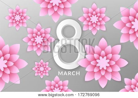 8 March. Happy Women's Day (EPS 10)