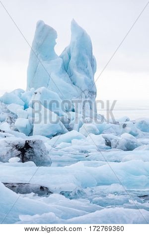 Jokulsarlon lagoon Glacier at Vatnajokull Glacier in Iceland