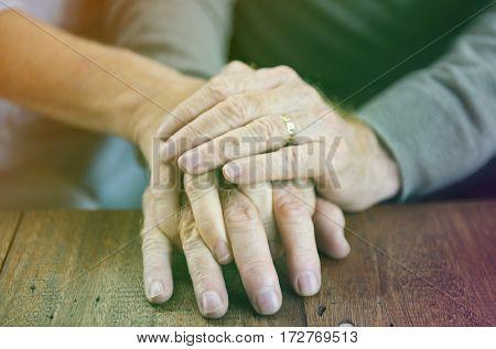 Holding Hands Affection Mature Love