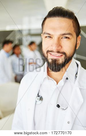 Man as chief physician with responsability and competence in clinic