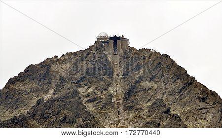 Chalet on the Lomnicky Peak, Mountain High Tatras, Slovakia, Europe
