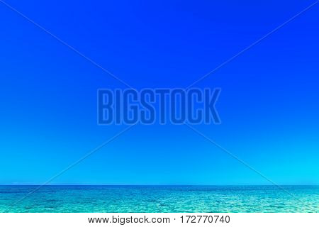 Beach Resort - Beautiful tropical sea and sky - Summer scene background