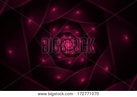 abstract spiral fractal pink computer generated image