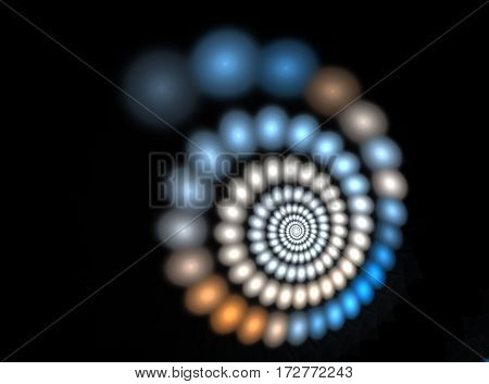 abstract spiral fractal blue computer generated image