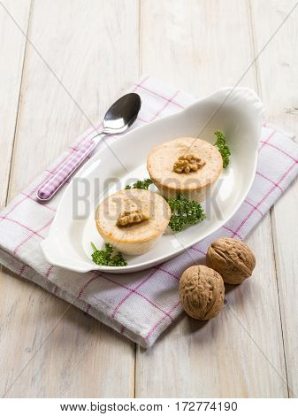 mousse with ricotta and nuts
