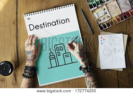 Holiday Destination Location Journey Icon