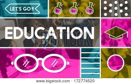 Education Academics Glasses Icon Graphics