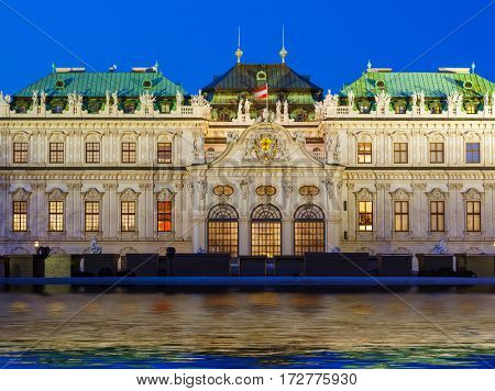 Palace Belvedere in Vienna Austria - cityscape architecture background