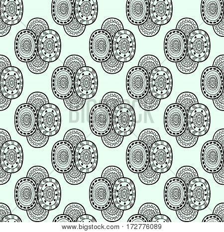 Black and white ethnic textile decorative native ornamental seamless pattern in vector. Abstract seamless pattern. Endless ornate background