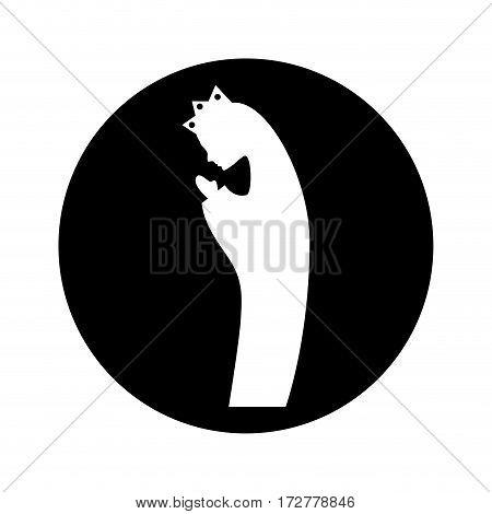 manger mary virgin figure silhouette icon vector illustration design