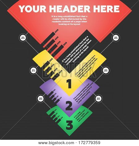 Step by step infographics elements. Vector illustration