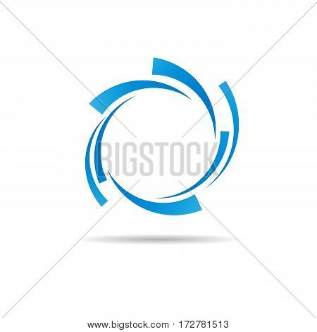 Vector Blue Rings Background, isolated illustration on white