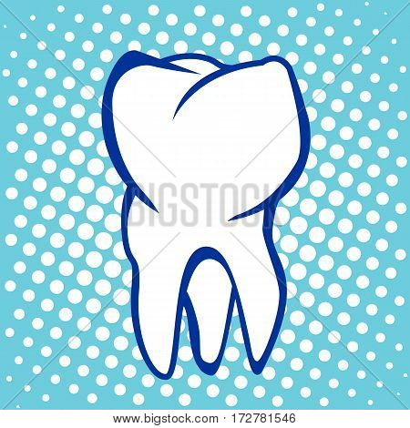 Tooth Poster  Stomatology Icon with dot effect. Vector illustration.