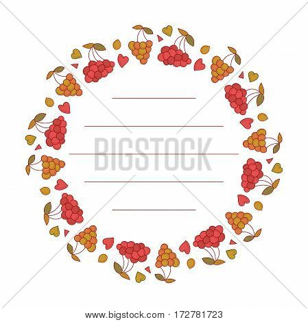 Berries frame for your text. Cute berries arranged in a shape of the wreath