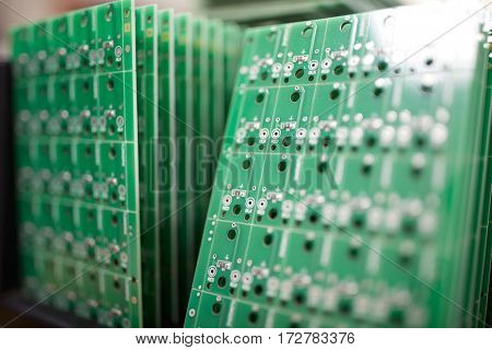A lot of circuit boards in server