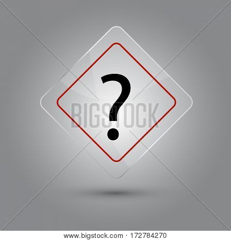 Question mark ? sign glossy vector illustration with shadow