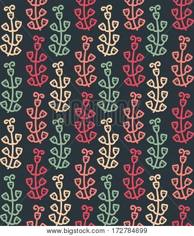 Floral seamless pattern in vector. Summer endless background with flowers