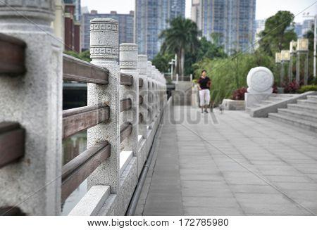 China's guangzhou city park road