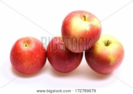 Red Apple Fruit Isolated On White