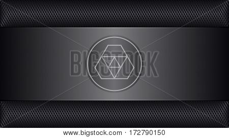 Abstract Technology Background With Metal Grid