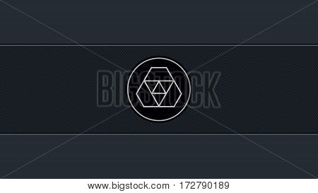 Abstract Minimalist Background With Diagonal Lines And Space For Your Logo
