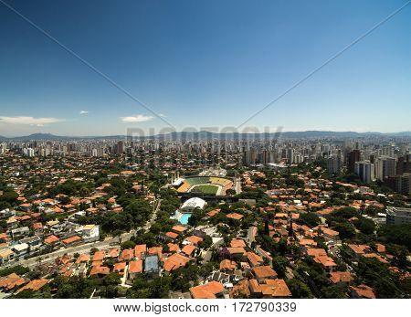 Aerial View of Pacaembu, Sao Paulo, Brazil