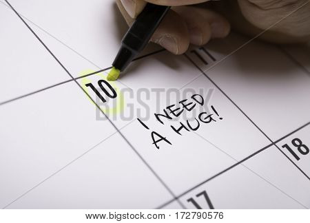 I Need a Hug