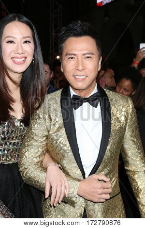 LOS ANGELES - JAN 19:  Cissy Wang, Donnie Yen at the